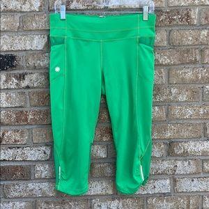 Athleta neon green cropped leggings size medium!